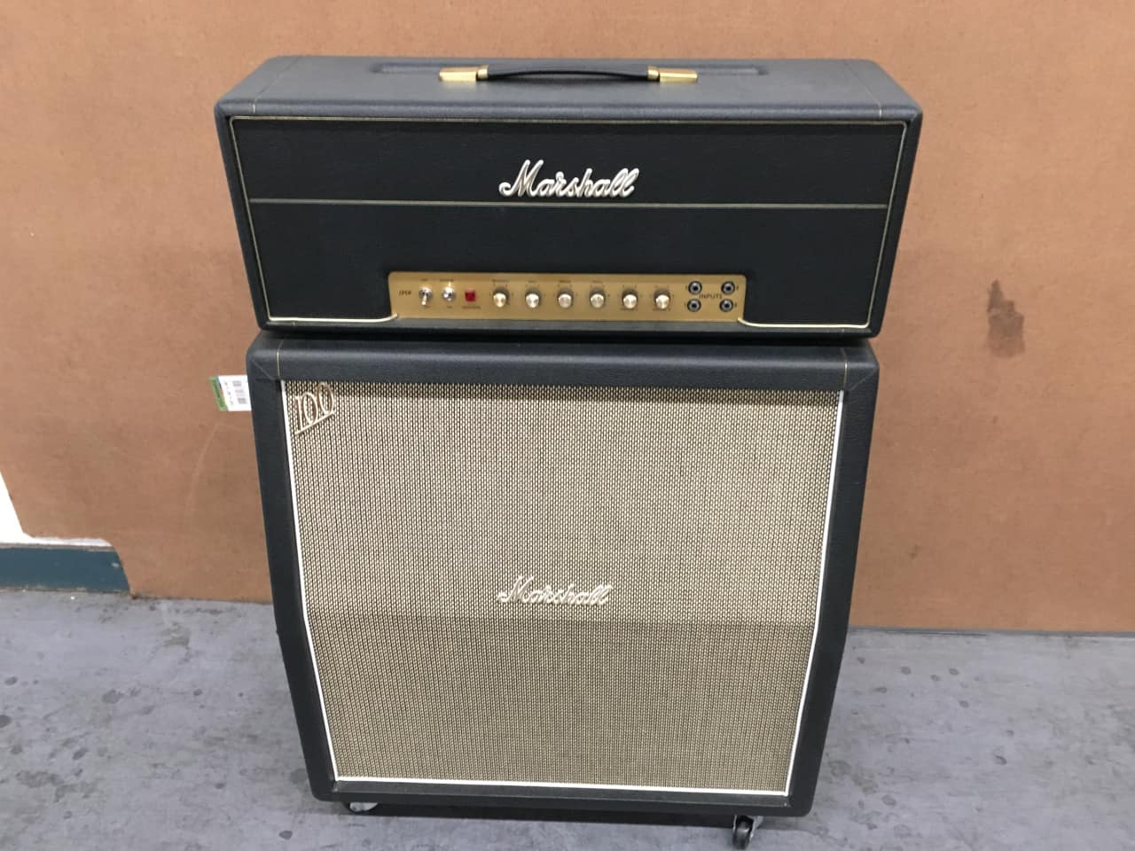 marshall 1959 hw 100w superlead and 1960 ahw 4x12 cabinet. Black Bedroom Furniture Sets. Home Design Ideas
