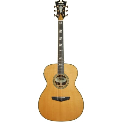D'Angelico Guitars Excel Tammany Acoustic Electric Guitar, Ebony Board, Natural