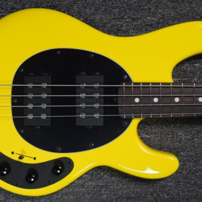 Ernie Ball Music Man StingRay 4 HH Special, HD Yellow with Rosewood Fingerboard