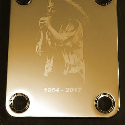 GUITAR NECK PLATE Custom Engraved Etched - CHRIS CORNELL - Gold