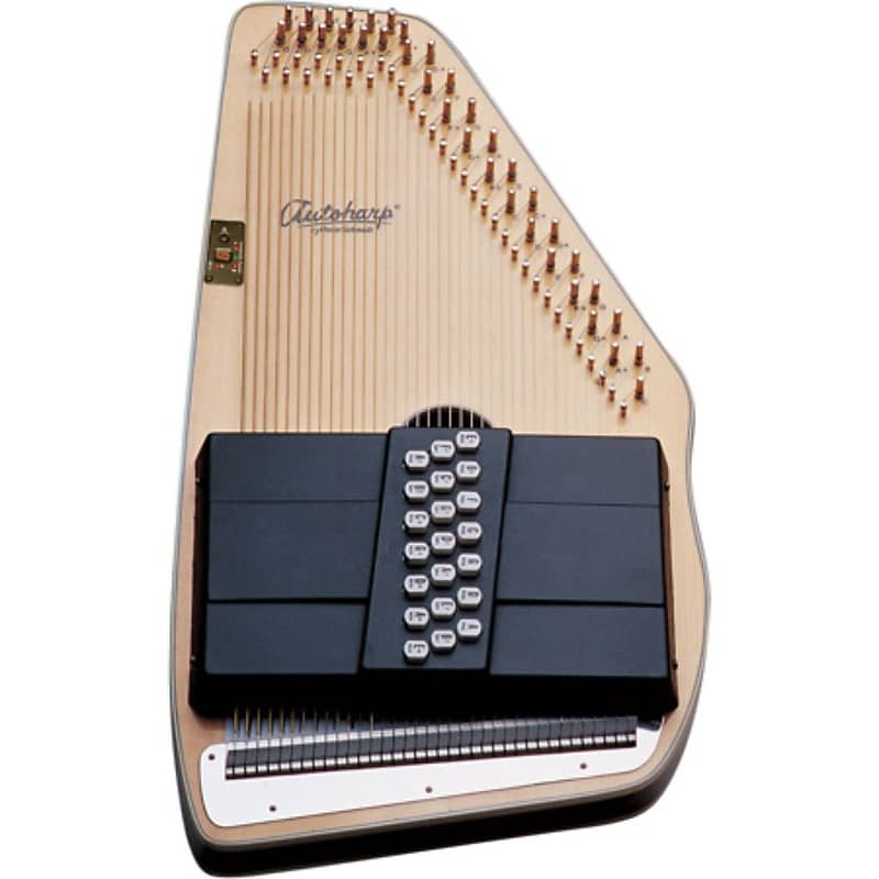 Oscar Schmidt OS11021FNE 21-Chord Acoustic Electric Autoharp Natural+Ships Free