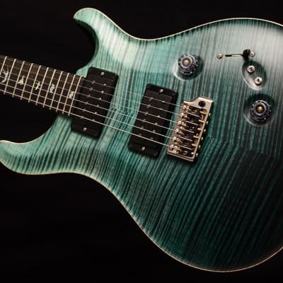 NEW Paul Reed Smith Wood Library Custom 24-08 Satin in Brian's Limited Teal Fade! for sale