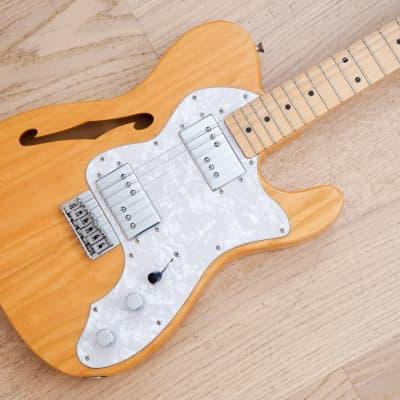 1997 Fender '72 Telecaster Thinline Vintage Reissue Guitar Natural Ash Japan CIJ for sale
