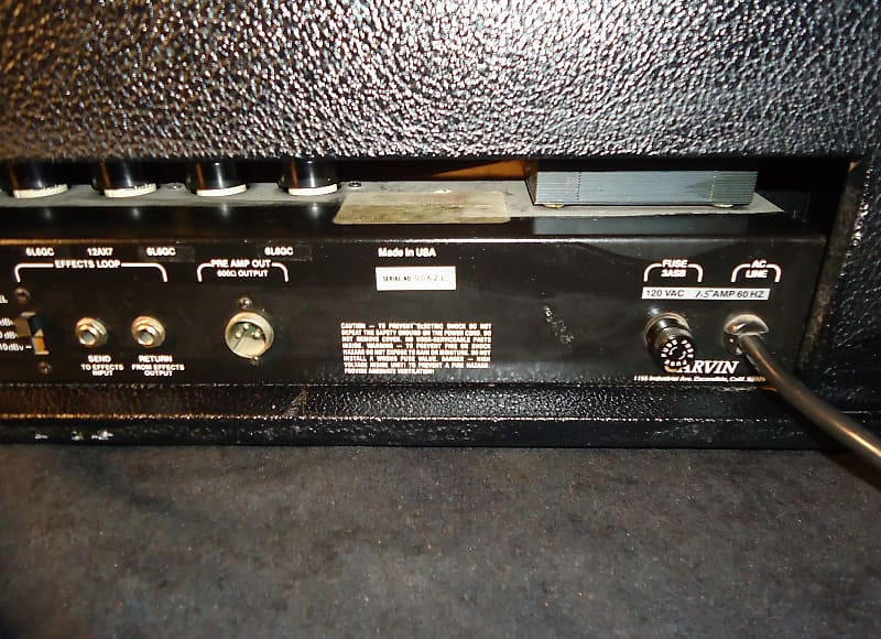 used 1980 39 s great sounding carvin usa x100b 4 8 16 ohm reverb. Black Bedroom Furniture Sets. Home Design Ideas