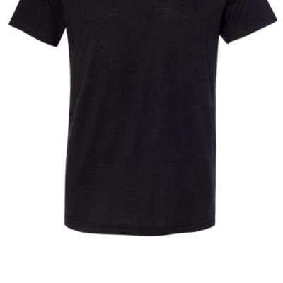 Black V-Neck T-Shirt Small
