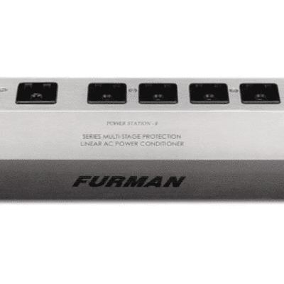 Furman PST-8 Power Station (15A, 8 Outlet Surge Suppressor Strip, Linear Power Conditioner)