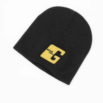 """Guyatone Beanie Knit Hat w/ Embroidered Gold """"G"""" logo"""