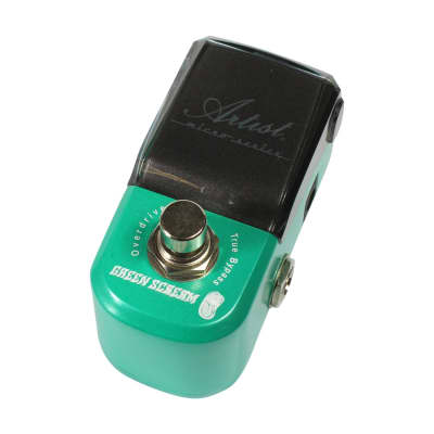 Artist MP107 Green Scream Overdrive Micro Guitar Effects Pedal for sale
