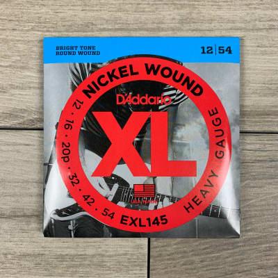D'Addario EXL145 Nickel Wound Electric Guitar Strings, 12-54, (Plain Third) Heavy Set