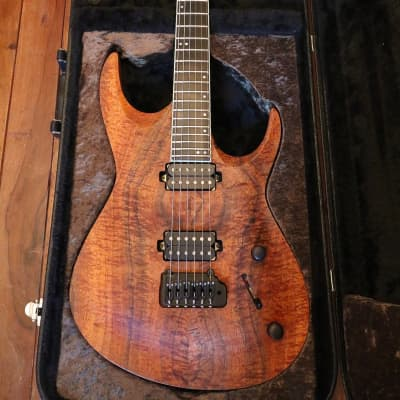Blackwater Guitars  Custom Double II w/ Figured Koa Top 2016 Figured Koa for sale