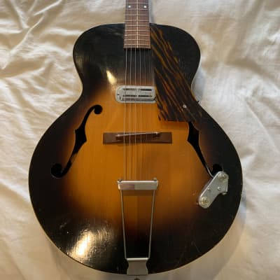 1930s Cromwell G4 Archtop Guitar Vintage Sunburst w/ DeArmond Pickup for sale