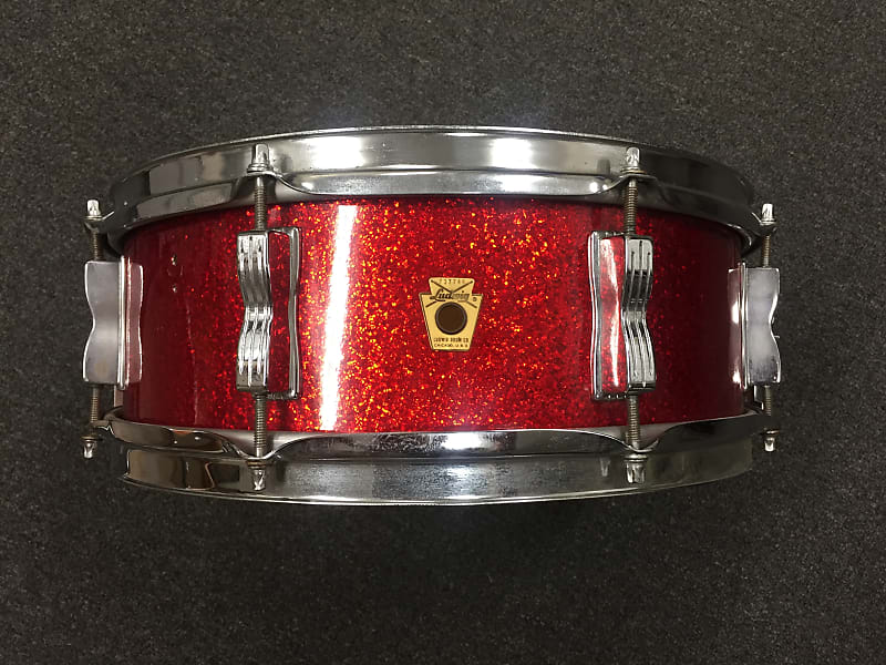 ludwig 1968 69 5x14 jazz festival 8 lug snare drum in red reverb. Black Bedroom Furniture Sets. Home Design Ideas