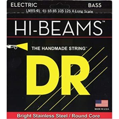 DR Hi Beams Electric Bass Strings 45-105 X-Long Scale