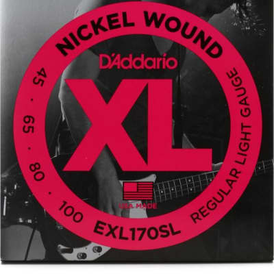 D'Addario EXL170SL Nickel Wound Bass Guitar Strings Light Super Long Scale