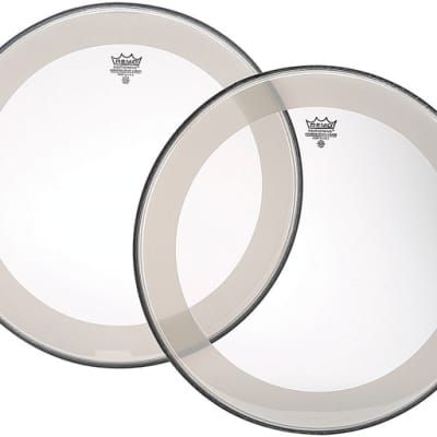 """Remo 20"""" Clear Powerstroke 4 Falam Patch Bass Drum Head"""