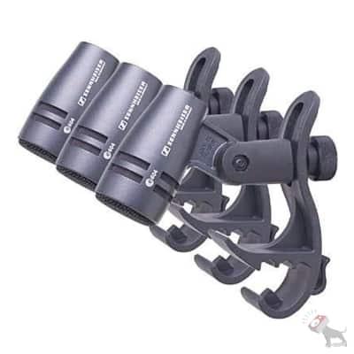 Sennheiser e604P 3-Pack Drum Microphone Kit w/ Clips & Pouches