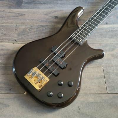 1989 Rockoon Japan (by Kawai) KRB-90 Neckthrough PJ Bass (See-through Black) for sale