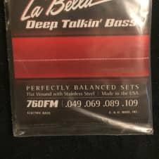 La Bella  La Bella 760FM Deep Talkin' Flat Wound Bass Strings - Medium