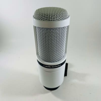 Audio-Technica AT2020 Cardioid Condenser Microphone White *Sustainably Shipped*
