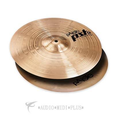 """Paiste 14""""PST 5 Medium Hi-Hats Cymbal Set - 0683114-697643304840"""