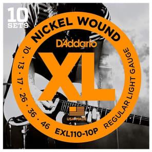 3 Sets D/'Addario ECG23 Chrome Flat Wound Extra Light Wound 3rd Guitar Strings