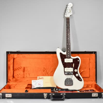 2014 Fender American Vintage '65 Jazzmaster Olympic White Finish Electric Guitar w/OHSC for sale