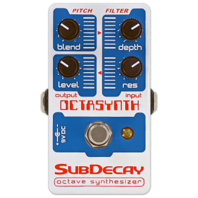 SubDecay Octasynth Octave Synthesizer Guitar Effects Pedal