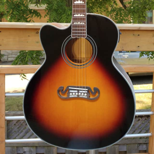 Fishbone's  Byron Series Acoustic Piezo Electric Jumbo BLK200-SC Lefty Tobacco Sunburst image
