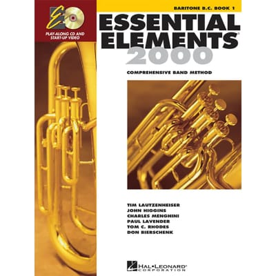 Essential Elements 2000: Comprehensive Band Method -  Baritone B.C. | Book 1 (w/ CD)