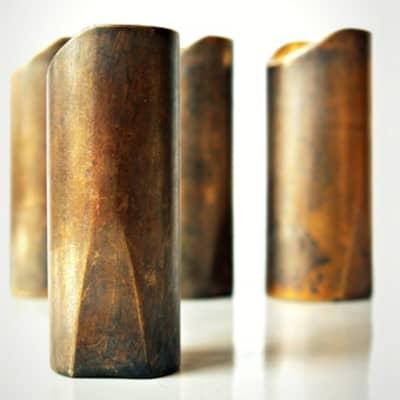 """The Rock Slide Aged Brass """"Swamp Slide"""" Guitar Slide - X Large, 22.5mm x 59mm - Ring size 11-13"""