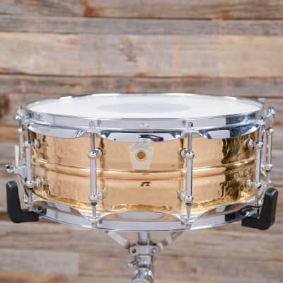 "Ludwig LB550KT Hammered Bronze 5x14"" Snare Drum with Tube Lugs"