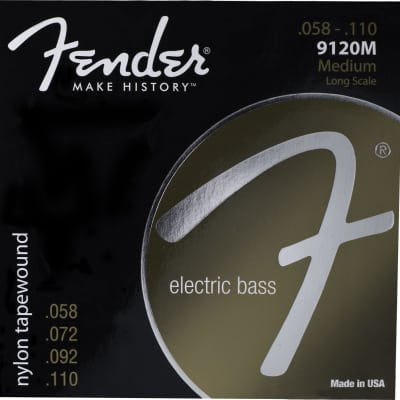 Genuine Fender® 9120M Nylon Tapewound Bass Strings, Set of 4 073-9120-406 image