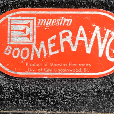 Maestro Boomerang BG-2 Wah /volume 1974 for sale