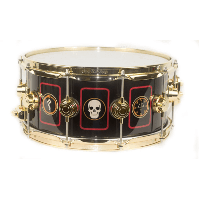 """DW DREX6514SSG-R2 Collector's Series 6.5x14"""" """"R40"""" Neil Peart Signature Icon Snare Drum"""