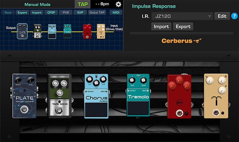 nux cerberus multi effects for guitar outstanding w 9 reverb. Black Bedroom Furniture Sets. Home Design Ideas