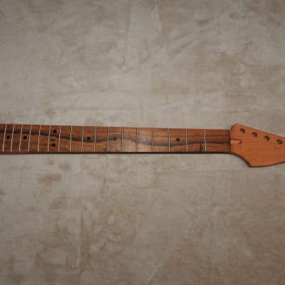 Strat Style Unfinished Cherry Neck with Bocote Fretboard 21 Medium Jumbo Frets C Profile 9.5 Radius!