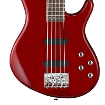 Cort Action Bass Plus 5  Trans Red