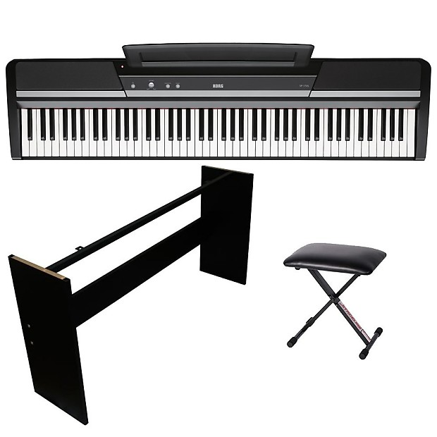 Korg Sp 170s Digital Piano Portable 88 Key Kit W Wooden