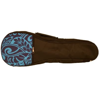 Kala UB-BL-T Blue Hawaiian Pattern Gig Bag for Tenor Ukuleles