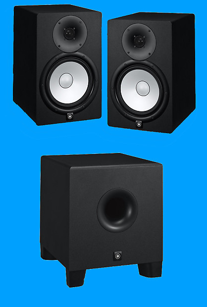 yamaha hs8 studio monitor pair with matching hs8s subwoofer reverb. Black Bedroom Furniture Sets. Home Design Ideas