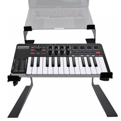 Samson Graphite M25 25-Key USB MIDI Keyboard Controller+Dual Shelf Studio Stand