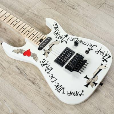Charvel Warren DeMartini USA Signature Frenchie Electric Guitar Snow White +Case for sale