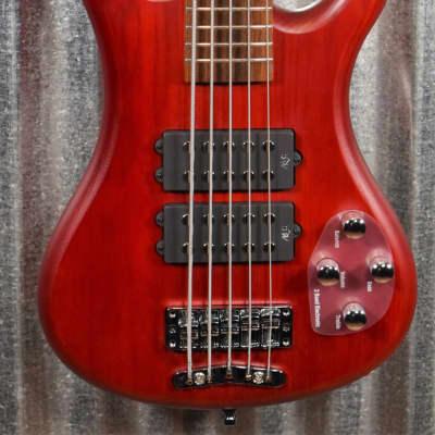 Warwick Rockbass Corvette $$ Double Buck Burgundy 5 String Bass & Bag #9918