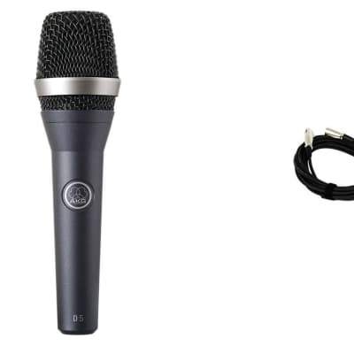 AKG D5 Vocal Microphone Bundle with 20-foot XLR Cable & Stand