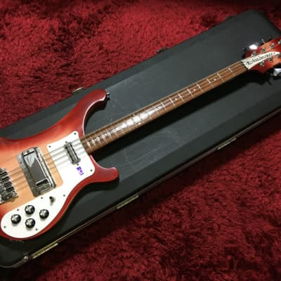 Super rare beauty Rickenbacker 4003 S8 Flreglo 8-string bass BASS 2002 w/HC Used in Japan