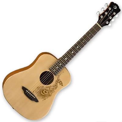 Luna Safari Henna 3/4-Size Travel Acoustic Guitar - Ships FREE Lower 48 States!
