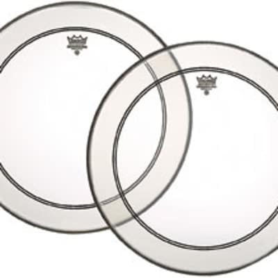 """Remo Powerstroke 3 Clear Bass Drum Batter Head w/ White Falam Patch - P31324C2 24"""""""