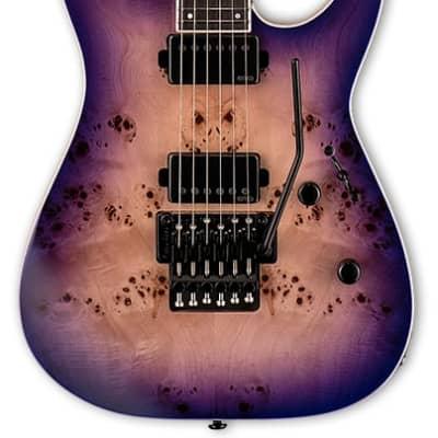 ESP Ltd M-1000 Deluxe Electric Guitar Purple Natural Burst