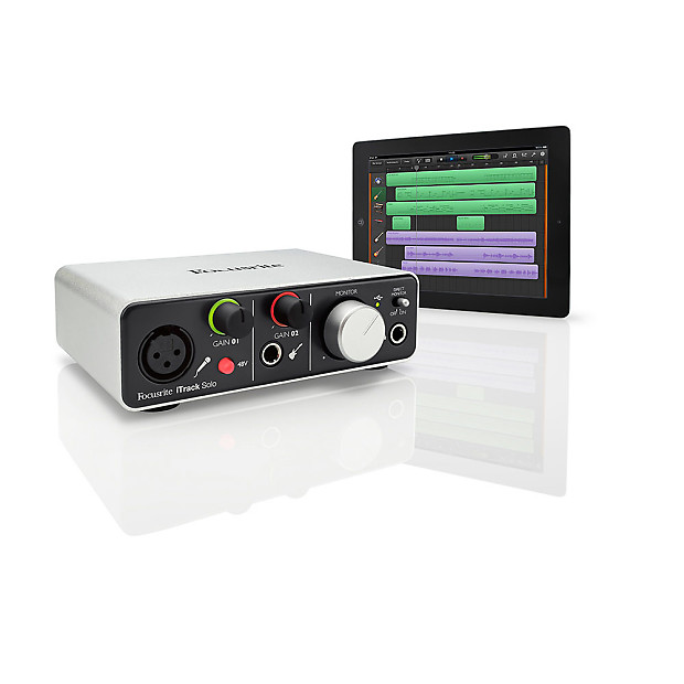 focusrite itrack solo usb audio interface ipad mac pc reverb. Black Bedroom Furniture Sets. Home Design Ideas