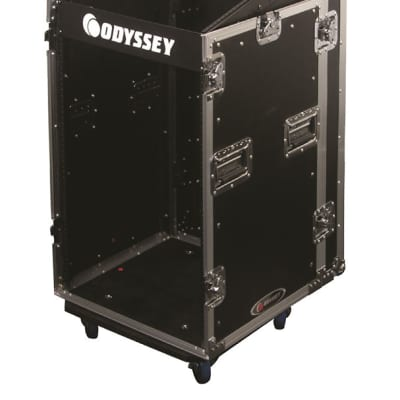 Odyssey Cases FZSRP1112W Space Saver Combo Rack 11x12 w/ Casters & 2 Brakes